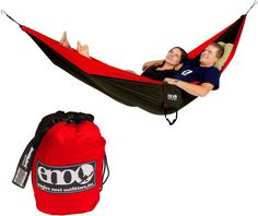 Snuggle up! This hammock for two packs down to the size of a grapefruit. #REIGifts