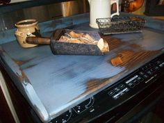 Primitive Country Noodle Board Stove Top Cover Space