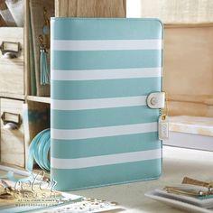Mint & White Stripe Farbe Crush A5 Binder nur von ReddRobinStudios