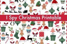 Christmas I Spy Game {free printable!}