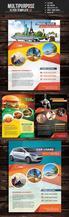 Multipurpose Flyer Template V6 #GraphicRiver This fully layered corporate flyer…