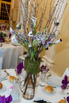 Table Decor- Simple elegance Photo from Sue + Robb collection by Love Knot Photo #weddingsatMDzoo