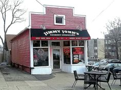 Jimmy John's sandwich shop, East Ann Street, Ann Arbor, Michigan.