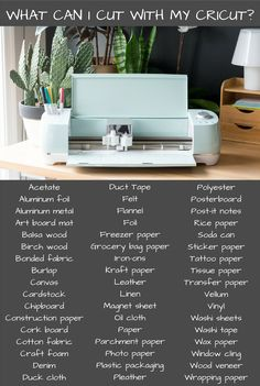 Awesome list of the materials you can cut with your Cricut!