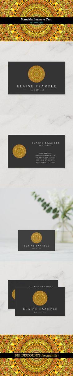 Floral Gold Ornate Mandala Business Card by David Zydd #MandalaBusinessCard #BestBusinessCards #Identity #Pattern #Mandala #MandalaDesign #Life (tags: template, mandala pattern, personalized, yoga business card, health, personalizable, professional, ornate, product, editable, coach, flower, custom, mandala art, flora, mandala, identity card, geometry, for her) Mandala Pattern, Mandala Design, Mandala Art, Cool Business Cards, Business Card Design, Print Templates, Card Templates, Sacred Geometry, Graphics