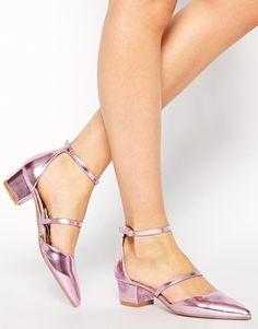 099580716c ASOS SHUTTLE Heels - if you need a flatter chunkier heel to walk in