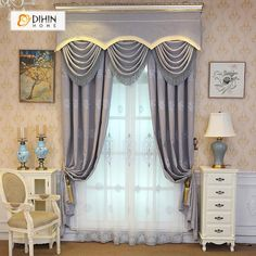 How to Add Living Room Privacy Without Blocking Light Grommet Curtains, Blackout Curtains, Window Curtains, Living Room Windows, New Living Room, Living Spaces, Curtains Living, Curtain Length