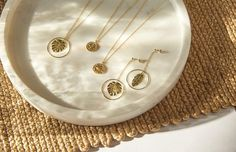 Gold Necklace, Leaves, Spring, Collection, Jewelry, Gold Paint, Sachets, Silver, Gold Pendant Necklace