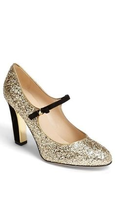 Glitter Mary Jane pump.