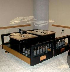 Peter Weitzel Tube Research amplifiers ( 800 watts per channel pure Class A )