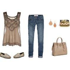 love this outfit   taupe of the hill, created by bellaviephotography on Polyvore
