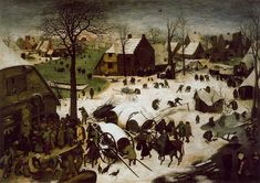 Pieter Bruegel the Elder - The Census at Bethlehem (1566), oil on wood panel, Royal Museums of Fine Arts of Belgium - Wikipedia, the free encyclopedia
