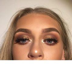 Maskenbildner Tattoo, Make-up Pinsel Preis alle Make-up Magazin bis Make-up Vani … - Prom Makeup Looks Formal Makeup, Prom Makeup, Makeup Geek, Hair Makeup, Makeup For Homecoming, Golden Eye Makeup, Bronze Eye Makeup, Natural Eye Makeup, Gold Makeup Looks