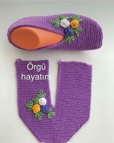 - Tricot - Hausschuhe stricken - – Tricot Informations About - Easy Knitting, Knitting Socks, Knitting Stitches, Knitting Patterns Free, Crochet Patterns, Crochet Boots, Crochet Baby, Knit Crochet, Crochet Slipper Pattern