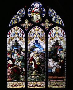 Old St Pauls Church Stain Glass Window Wellington NZ
