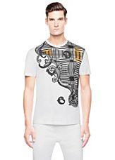 Asymmetric ethnic design T-shirt