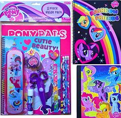 My Little Pony Back to School Supplies Arts and Crafts Gift Set 11 Piece Value Pack with My Little P @ niftywarehouse.com #NiftyWarehouse #MyLittlePony #Cartoon #Ponies #MyLittlePonies