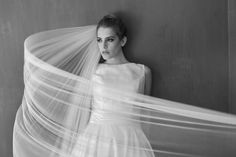 This long train veil is stunning! See more here: http://www.ericakoesler.com/product-category/veils/