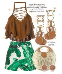 """""""#BeachWear"""" by designsbyqueen ❤ liked on Polyvore featuring Dolce&Gabbana, Balmain, Steve Madden and House of Holland"""