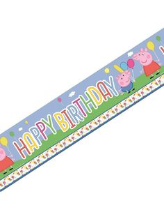 Matching Items in My Shop PEPPA PIG Jointed Birthday Room Banner NEW DESIGN