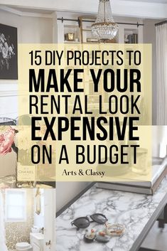 DIY Projects To Make Your Home Look Expensive - How to make your home look more expensive | How to make your home look more expensive diy | How to make your home look bigger | How to make your home look farmhouse | Make your home look more expensive | Make your home look more expensive diy budget | Make your home look more expensive ideas Apartment Decorating On A Budget, Diy Home Decor On A Budget, Apartment Ideas, Rental Home Decor, Rooms Home Decor, Living Room On A Budget, Budget Bedroom, Living Rooms, Home Crafts