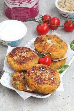 Un peu de dépaysement avec ces galettes indiennes aux quinoa et patates douces. Légèrement épicées, délicatement parfumées à la coriandre ...