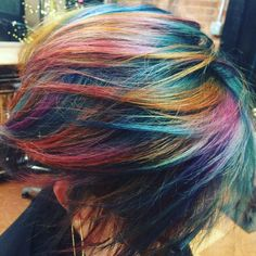 Fire opal hair color using pulpriot