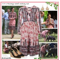 13.04.16 Kaziranga park visit-Duchess of Cambridge by indicupcake on Polyvore…