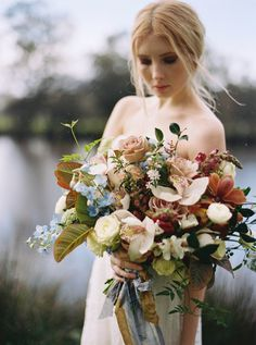Floral Design by IVY Flowers   Photographer Katie Grant   Hair by Kayla Marshall Wedding Hair & Style   Sarah Seven Gown   Fine Art Curation   Wedding Sparrow