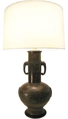 1940's Bronze Table Lamp