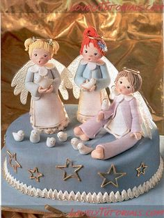3 angels tutorial for fondant / clay