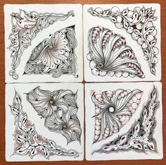 Winding down with Icanthis and Drawings , I find that creating a mosaic is a really fun way to play with tangleations of our new tangles. ...
