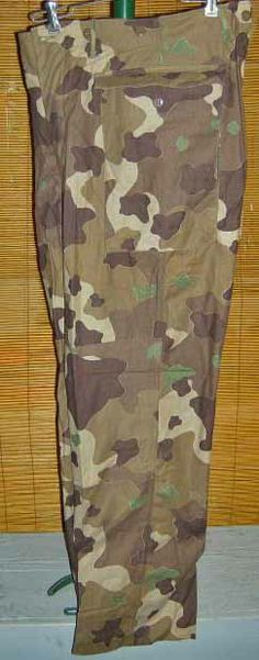 Experimental pattern from 1941 camouflage trials which resulted in Frog Skin