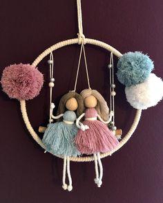 Macrame Art, Macrame Design, Macrame Projects, Macrame Plant Hanger Patterns, Macrame Patterns, Crochet Patterns, Art Macramé, Yarn Dolls, Fairy Crafts