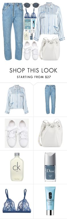 """""""370. Evan"""" by ass-sass-in ❤ liked on Polyvore featuring Morgan Lane, RE/DONE, Oliver Peoples, Mansur Gavriel, Calvin Klein, Christian Dior, La Perla, Cutie and Clinique"""
