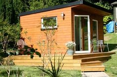 nice shed – Home Office Design For Women Small Garden Office, Backyard Office, Backyard Studio, Garden Studio, Sip House, Eco Cabin, Small House Living, Studio Shed, Backyard Buildings
