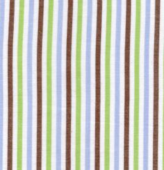 Fabric Finders, Inc. #T43 Brown/Blue/Green Stripe
