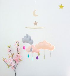 Hoi! Ik heb een geweldige listing gevonden op Etsy http://www.etsy.com/nl/listing/60213569/rain-cloud-mobile-nursery-children-decor