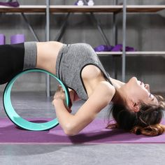 Buy Online TPE Yoga Circles Pilates Professional Waist Shape Bodybuilding ABS Gym Workout Yoga Wheel Back Training Tool For Fitness Dance Pilates Training, Pilates Workout, Gym Workouts, Pilates Yoga, Beginner Workouts, Pilates Video, Beginner Yoga, Pilates Reformer, Yoga Fitness
