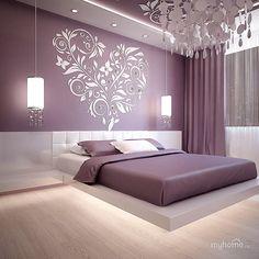 Best Glidden Interior Paint Colors for a Purple Bedroom Luxury Bedroom Design, Bedroom Bed Design, Bedroom Furniture Design, Home Decor Bedroom, Living Room Decor, Interior Design, Purple Bedroom Design, Bedroom Ideas, Purple Interior