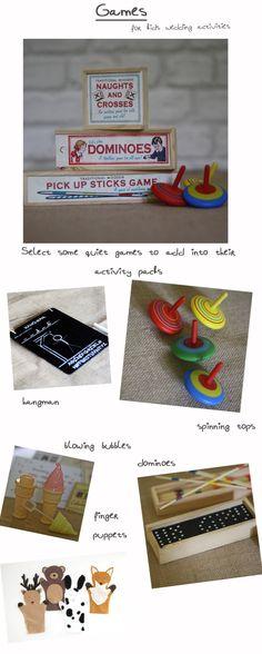 Ideas for children's wedding activity packs