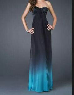 Hermoso vestido con colores en degrade