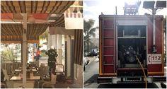 ALMUÑÉCAR. Recibida la llamada los bomberos de Almuñécar se presentaron en cuestión de pocos minutos en la calle Hurtado de Mendoza donde el humo salía de forma profusa