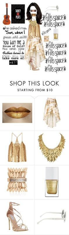 """House of Gold"" by xxband-obsessedxx ❤ liked on Polyvore featuring Christian Pellizzari, TIBI, FerrariFirenze, The Hand & Foot Spa, Steve Madden and Hot Topic"