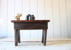 Vintage Farmhouse Milking Stool // Primitive by genrestoration, $38.00