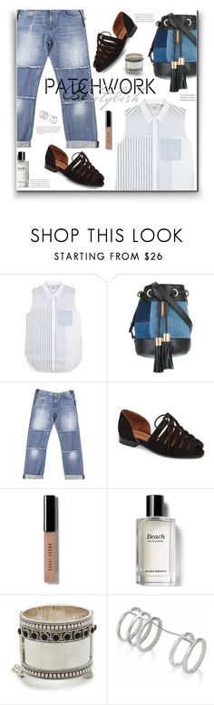 """""""All patched up"""" by nineseventyseven ❤ liked on Polyvore featuring 3.1 Phillip Lim, See by Chloé, STELLA McCARTNEY, Jeffrey Campbell, Bobbi Brown Cosmetics, Edge of Ember, denim and patchwork"""
