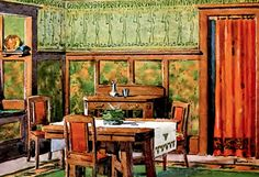 Portiere Styles and Design Tips Craftsman Interior, Craftsman Style, Victorian Decor, Victorian Fashion, Doorway Curtain, Curtains, Arts And Crafts House, Living Room Windows, Arts And Crafts Movement