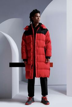 "The North Face Urban Exploration Launches Expansive Collections: ""The Archives, Reimagined"" includes reworked Nuptses and new Kazuki Kuraishi. I Love Fashion, Mens Fashion, Mens Overcoat, Dad Shoes, Christopher Raeburn, Urban Exploration, Big Men, The North Face, Street Wear"
