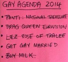 ireland gay agenda 2014 Lesbian, Gay, Transgender, Tattoo Quotes, Ireland, Marriage, Valentines Day Weddings, Lesbians, Irish