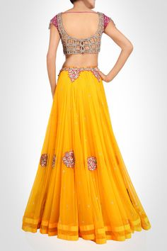 Love the yellow color on this lehenga
